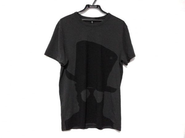 G-STAR RAW(ジースターロゥ) 半袖Tシャツ サイズM メンズ新品同様  ダークグレー×黒