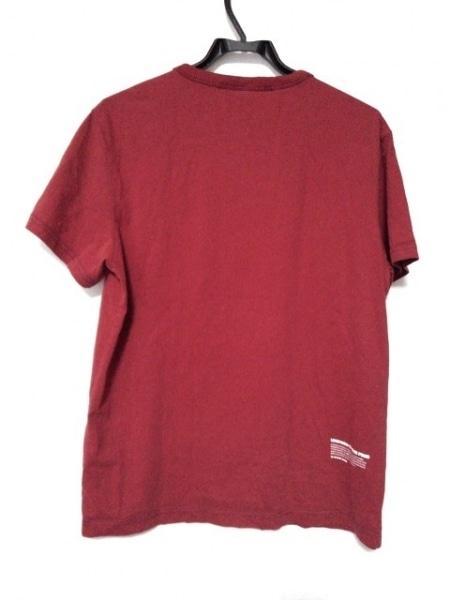 G-STAR RAW(ジースターロゥ) 半袖Tシャツ サイズM メンズ レッド×ダークネイビー
