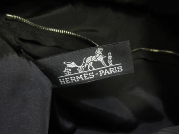HERMES(エルメス) ハンドバッグ アカプルコMM 黒 ナイロン×レザー