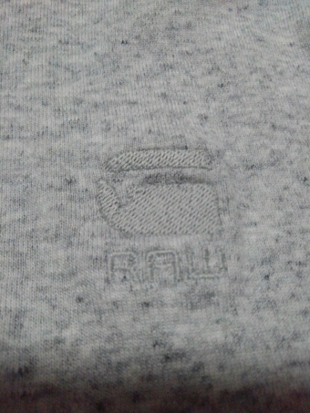 G-STAR RAW(ジースターロゥ) 半袖Tシャツ サイズL メンズ ライトグレー