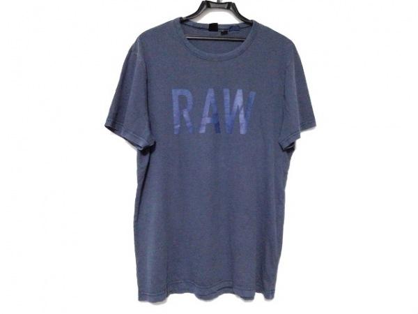 G-STAR RAW(ジースターロゥ) 半袖Tシャツ サイズM メンズ ネイビー×ブルー