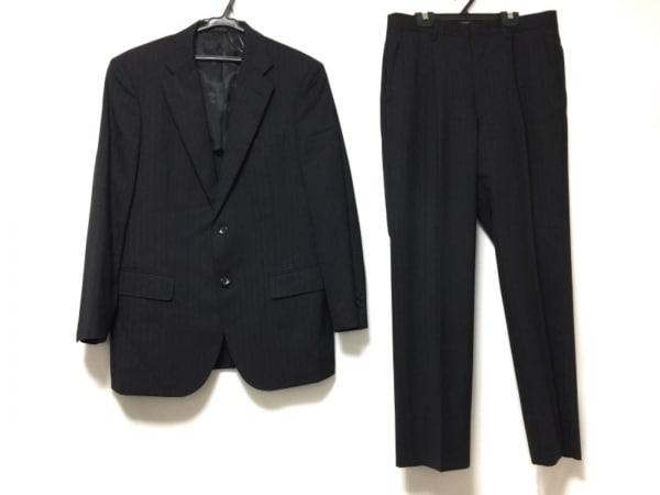 カンサイ ヤマモト シングルスーツ メンズ 黒×グレー×ライトブルー