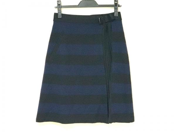 SONIARYKIEL(ソニアリキエル) スカート サイズ38 M レディース ネイビー×黒 ボーダー