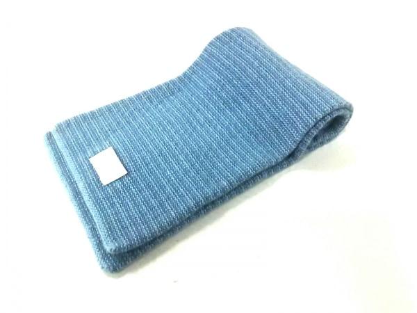 HERMES(エルメス) マフラー S美品  ブルー カシミヤ