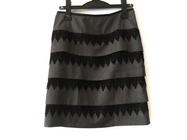 ボディドレッシングデラックス スカート サイズ38 M レディース美品  グレー×黒