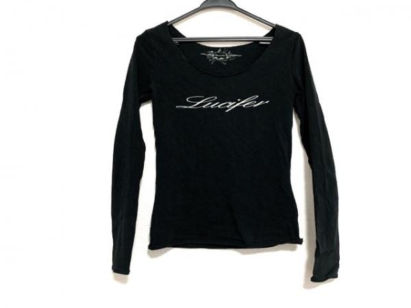 ダブルスタンダードクロージング 長袖Tシャツ レディース美品  黒 切りっぱなし