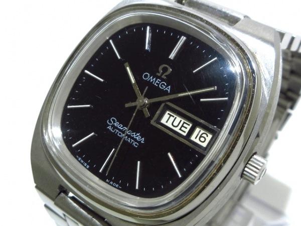 OMEGA(オメガ) 腕時計 シーマスターデイデイト - メンズ 黒