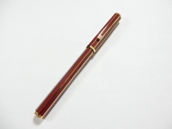 GIVENCHY(ジバンシー) 万年筆美品  ボルドー×ゴールド ペン先14K 金属素材