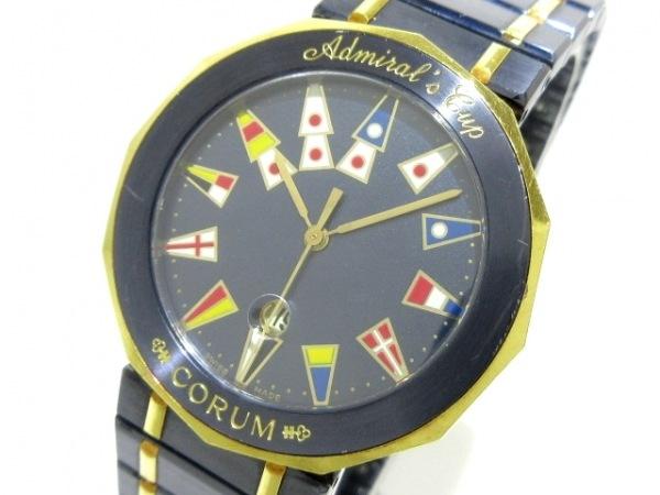 CORUM(コルム) 腕時計 アドミラルズカップ 39.810.31V52 メンズ SS×K18YG ガンブルー
