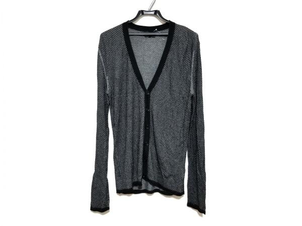 エンポリオアルマーニ カーディガン サイズ50 M メンズ美品  黒×ライトグレー