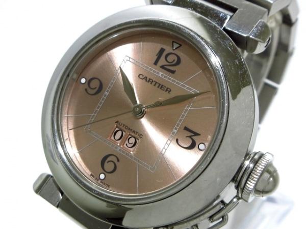 Cartier(カルティエ) 腕時計 パシャCビッグデイト W31058M7 ボーイズ SS ピンク