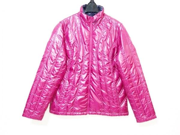 シーダブリューエックス ダウンジャケット サイズL メンズ ピンク 冬物/リバーシブル