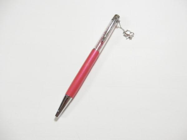 SWAROVSKI(スワロフスキー) ボールペン美品  クリア×ピンク×レッド HELLOKITTY