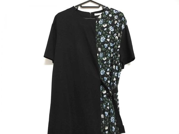 CLANE(クラネ) ワンピース サイズ1 S レディース美品  黒×白×マルチ 花柄