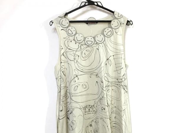 OLLEBOREBLA(アルベロベロ) ワンピース レディース ベージュ×ダークグレー 刺繍