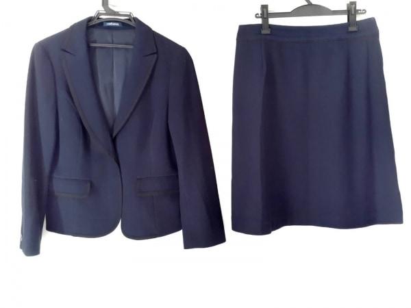 ニューヨーカー スカートスーツ サイズ13 L レディース新品同様  ダークネイビー