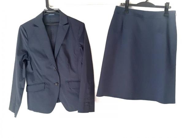 ニューヨーカー スカートスーツ サイズ13 L レディース美品  ネイビー 3点セット