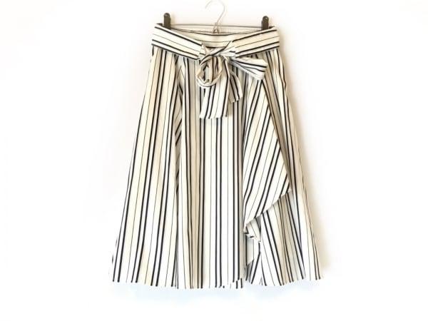 アプワイザーリッシェ ロングスカート サイズ2 M レディース 白×黒×グレー