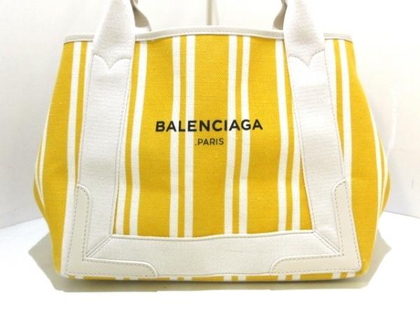BALENCIAGA(バレンシアガ) トートバッグ ネイビーカバS 339933 イエロー×アイボリー
