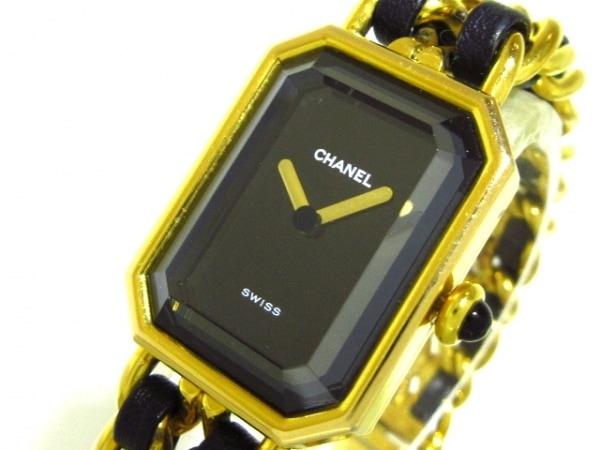 CHANEL(シャネル) 腕時計 プルミエール H0001 レディース サイズ:L 黒