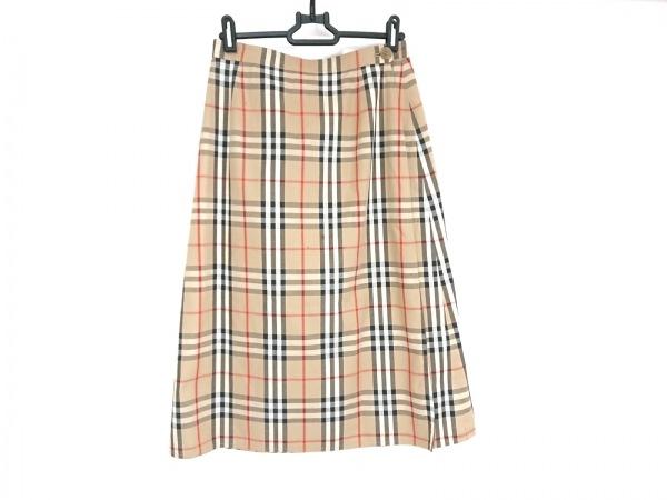 Burberry's(バーバリーズ) 巻きスカート レディース ベージュ×黒×マルチ チェック柄