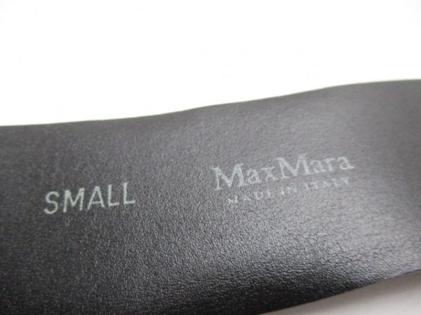 Max Mara(マックスマーラ) ベルト S グレー レザー