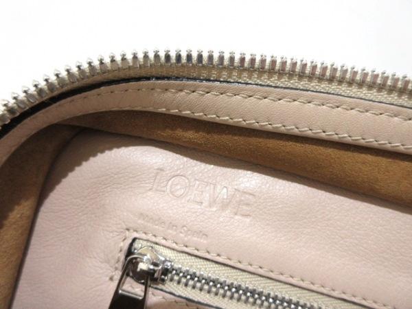 LOEWE(ロエベ) ハンドバッグ美品  フスタ ベージュ ミニサイズ レザー
