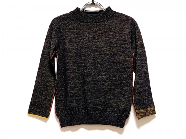 パラスパレス 長袖セーター サイズ3 L レディース ダークネイビー×ブラウン×レッド
