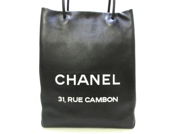 CHANEL(シャネル) トートバッグ エッセンシャルショッパートート A46881 黒 レザー