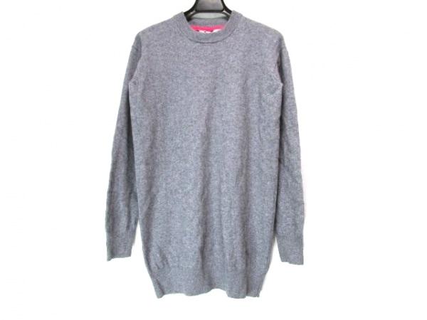 アレキサンダーワン 長袖セーター サイズXS レディース グレー×ピンク ロング丈