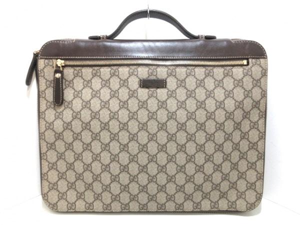 GUCCI(グッチ) ビジネスバッグ - 267919 ベージュ×ダークブラウン ブリーフケース
