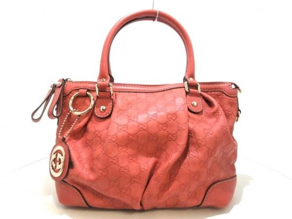 GUCCI(グッチ) ハンドバッグ美品  シマライン 247902 ピンク レザー