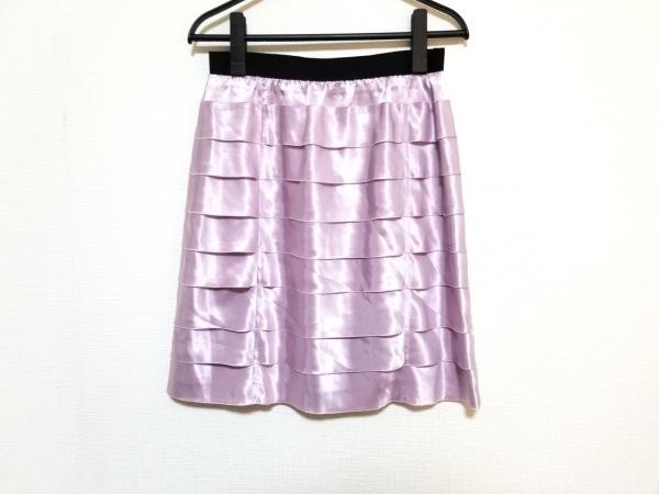 ランバンオンブルー スカート サイズ38 M レディース美品  ピンク×黒 フリル