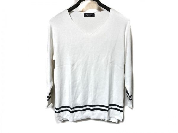 ジャスグリッティー 長袖セーター サイズ2 M レディース美品  アイボリー×黒