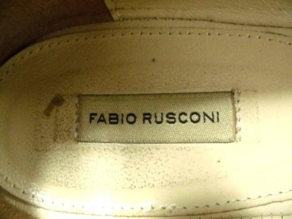 FABIO RUSCONI(ファビオルスコーニ) スリッポン 37 レディース 白 レザー