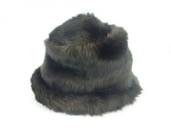 COMMEdesGARCONS(コムデギャルソン) 帽子 ダークブラウン フェイクファー アクリル