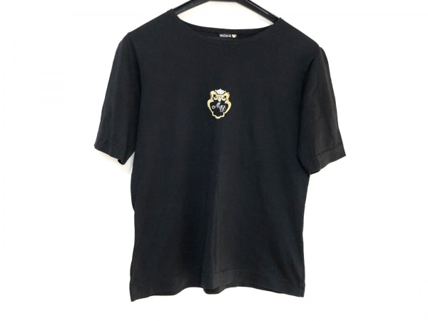 McDavid(マックデイビッド) 半袖Tシャツ レディース 黒 刺繍