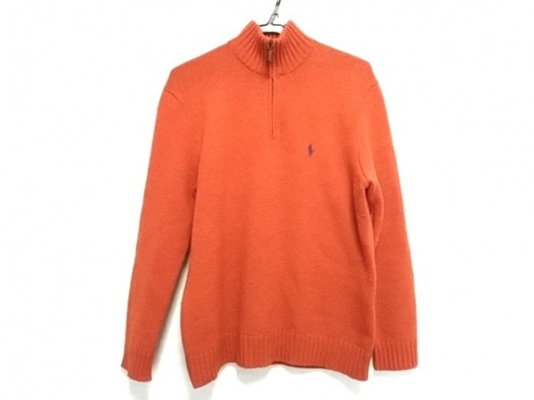 POLObyRalphLauren(ポロラルフローレン) 長袖セーター メンズ オレンジ