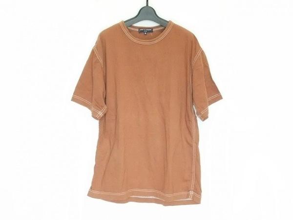 COMMEdesGARCONS HOMME(コムデギャルソンオム) 半袖Tシャツ サイズM メンズ ブラウン