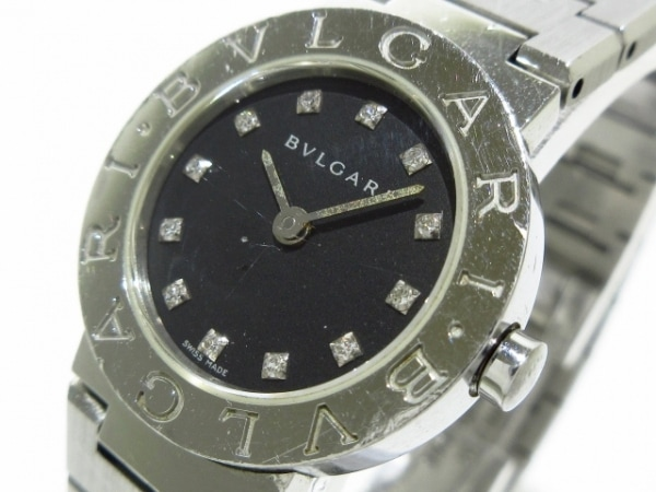 ブルガリ 腕時計 ブルガリブルガリ BB23SS レディース SS/12Pダイヤインデックス 黒