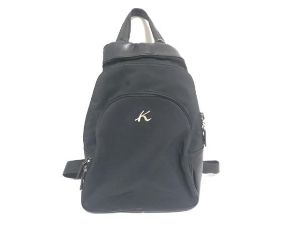 Kitamura K2(キタムラ) リュックサック 黒 ナイロン×レザー