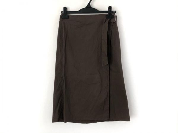 JILSANDER(ジルサンダー) 巻きスカート サイズ34 XS レディース美品  ダークブラウン