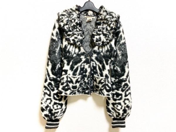 クラスロベルトカヴァリ ジャケット サイズUSA 8 レディース美品  白×黒