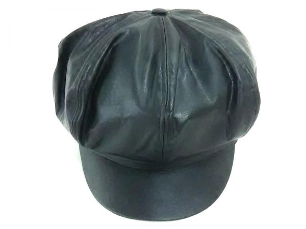 ARMANIJEANS(アルマーニジーンズ) 帽子 黒 ポリエステル×ポリウレタン