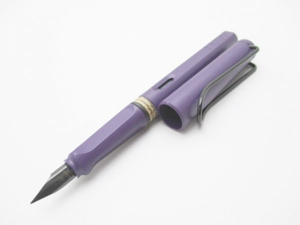 LAMY(ラミー) 万年筆美品  パープル インクなし プラスチック