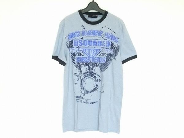 DSQUARED2(ディースクエアード) 半袖Tシャツ サイズXL メンズ ブルー×ダークネイビー