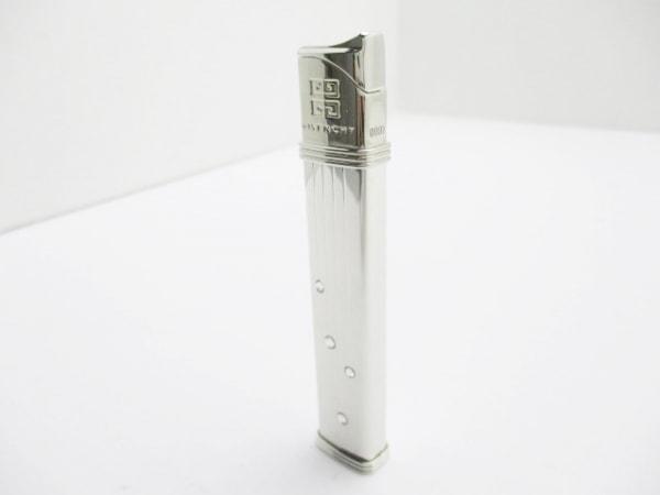 ジバンシー ライター美品  GV3500 シルバー×クリア 着火確認済み/ラインストーン
