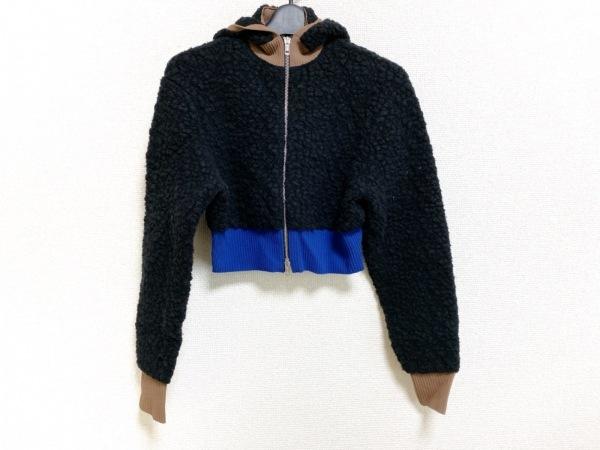 スリーワンフィリップリム パーカー サイズXS レディース 黒×ブラウン×ブルー