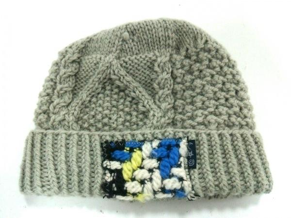 TSUMORI CHISATO(ツモリチサト) ニット帽 グレー×マルチ ウール