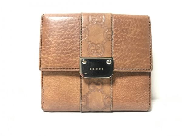 GUCCI(グッチ) Wホック財布 GG柄 233011 ブラウン レザー